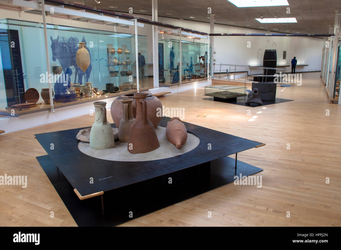 Germany, Haltern am See, the LWL Roman Museum. The museum shows the most important finding of Roman camps along Stock Photo