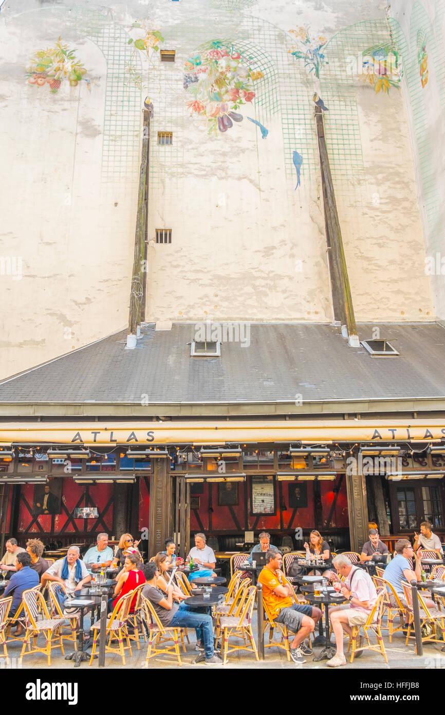 terrace of bar, cafe atlas - Stock Image