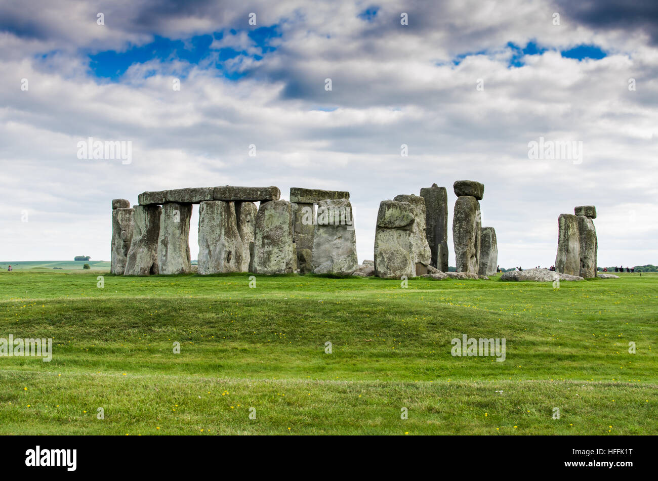 Clouds above Stonehenge in the Salisbury Plain - Stock Image