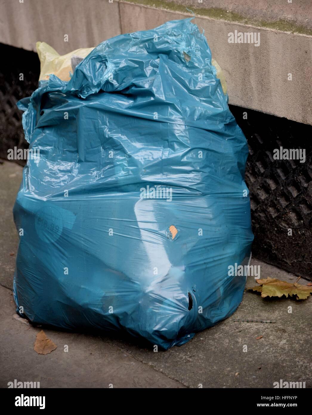 Rubbish bag - Stock Image