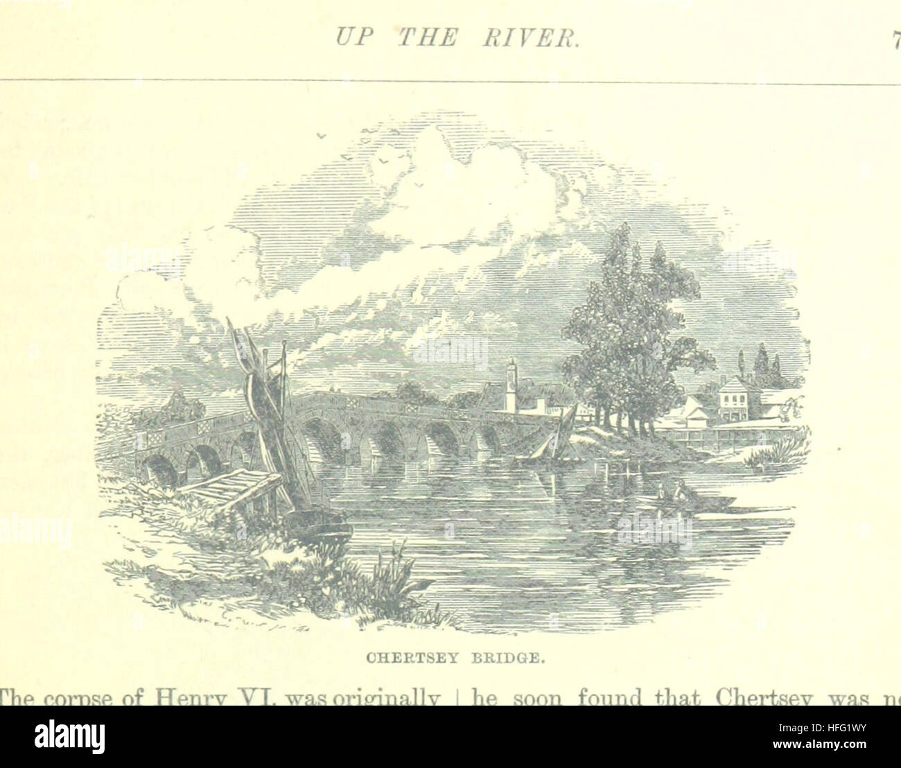 Image taken from page 103 of 'Up the River from Westminster to Windsor and Oxford; a descriptive panorama of - Stock Image