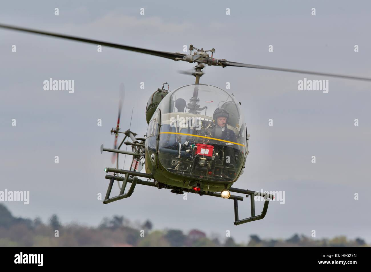 Bell 47G Sioux helicopter - Stock Image