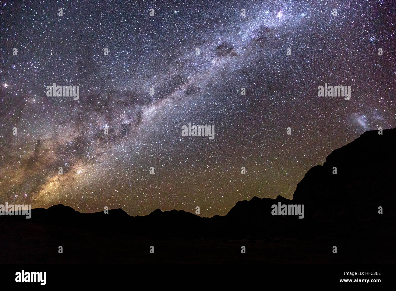 Milky Way above Fish River Canyon, Namibia - Stock Image