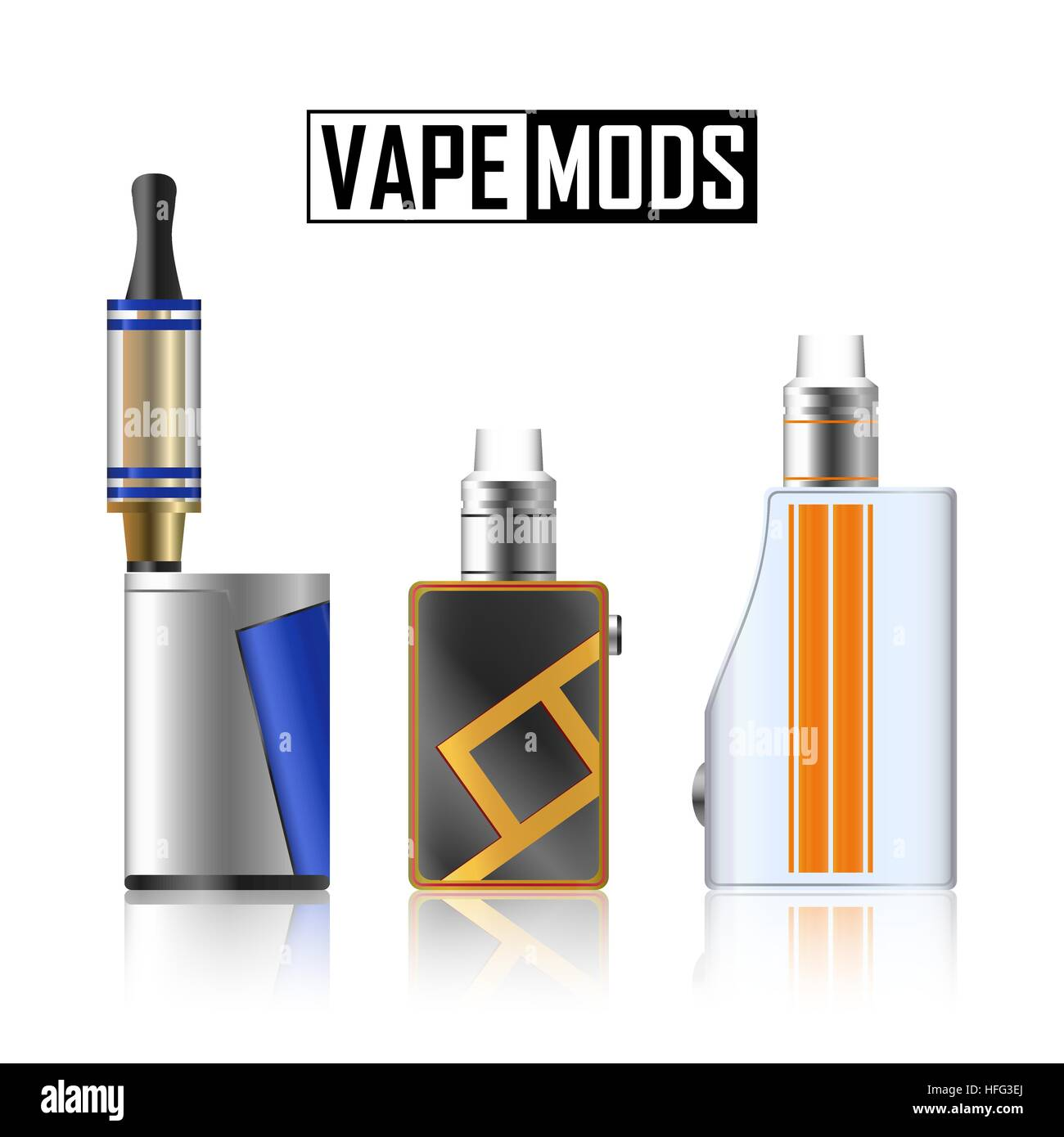 Vape Mod Set  Electronic Cigarette With Juice  Colorful