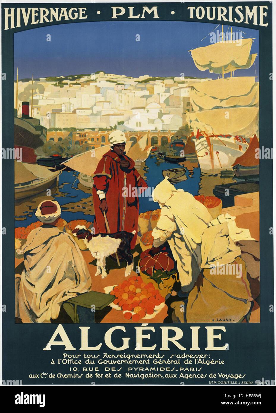 Vintage Travel Poster - Algerie - Stock Image