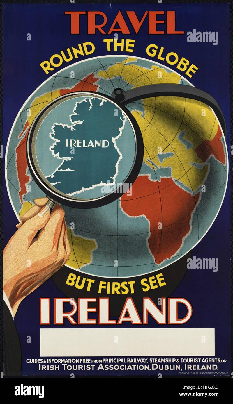 Ireland Killarney Irish Dublin Travel Tourism Dublin Vintage Poster FREE S//H