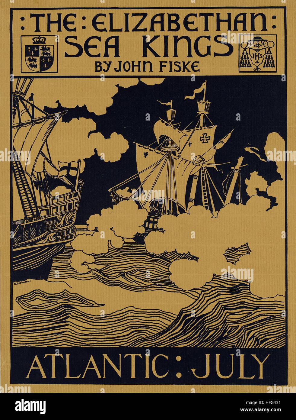 Atlantic  July. The Elizabethan sea kings by John Fiske - Stock Image