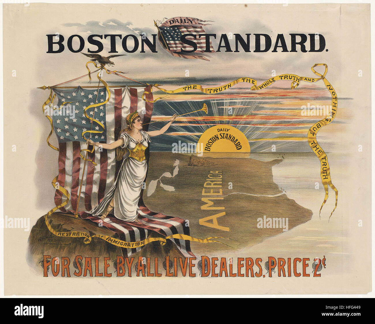 Daily Boston standard for sale by all live dealers - Stock Image
