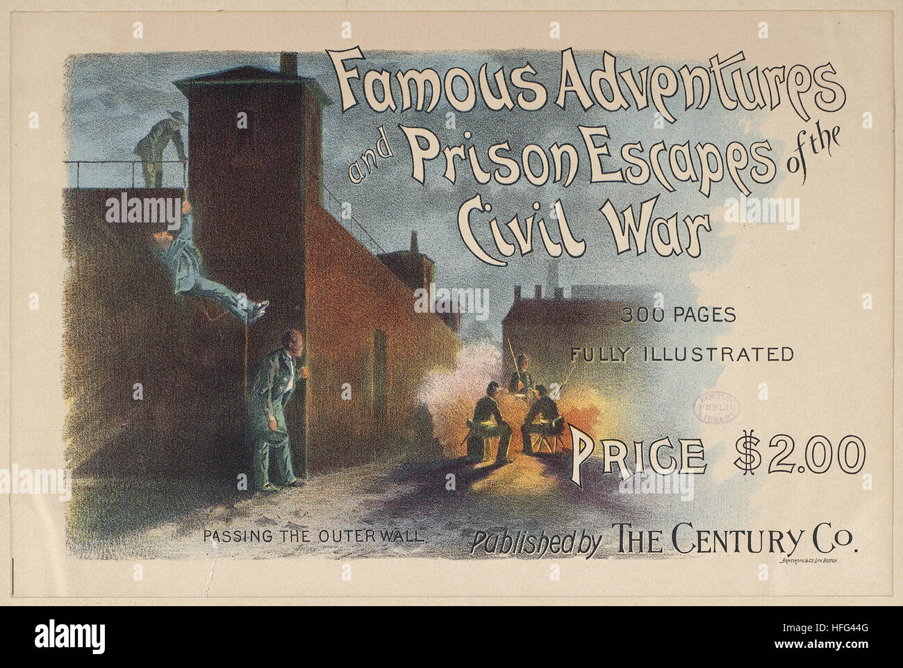 Famous adventures and prison escapes of the civil war - Stock Image