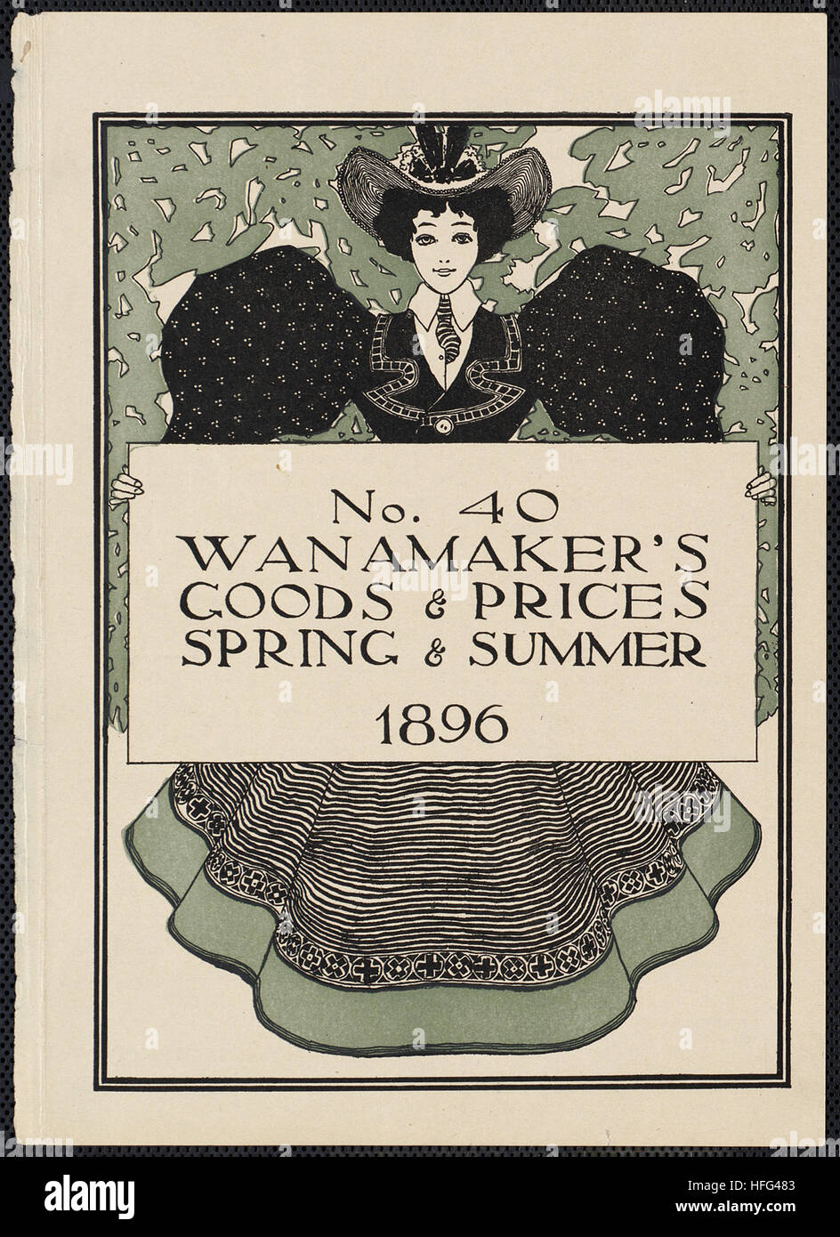 No. 40. Wanamaker's goods & prices, spring & summer 1896 - Stock Image