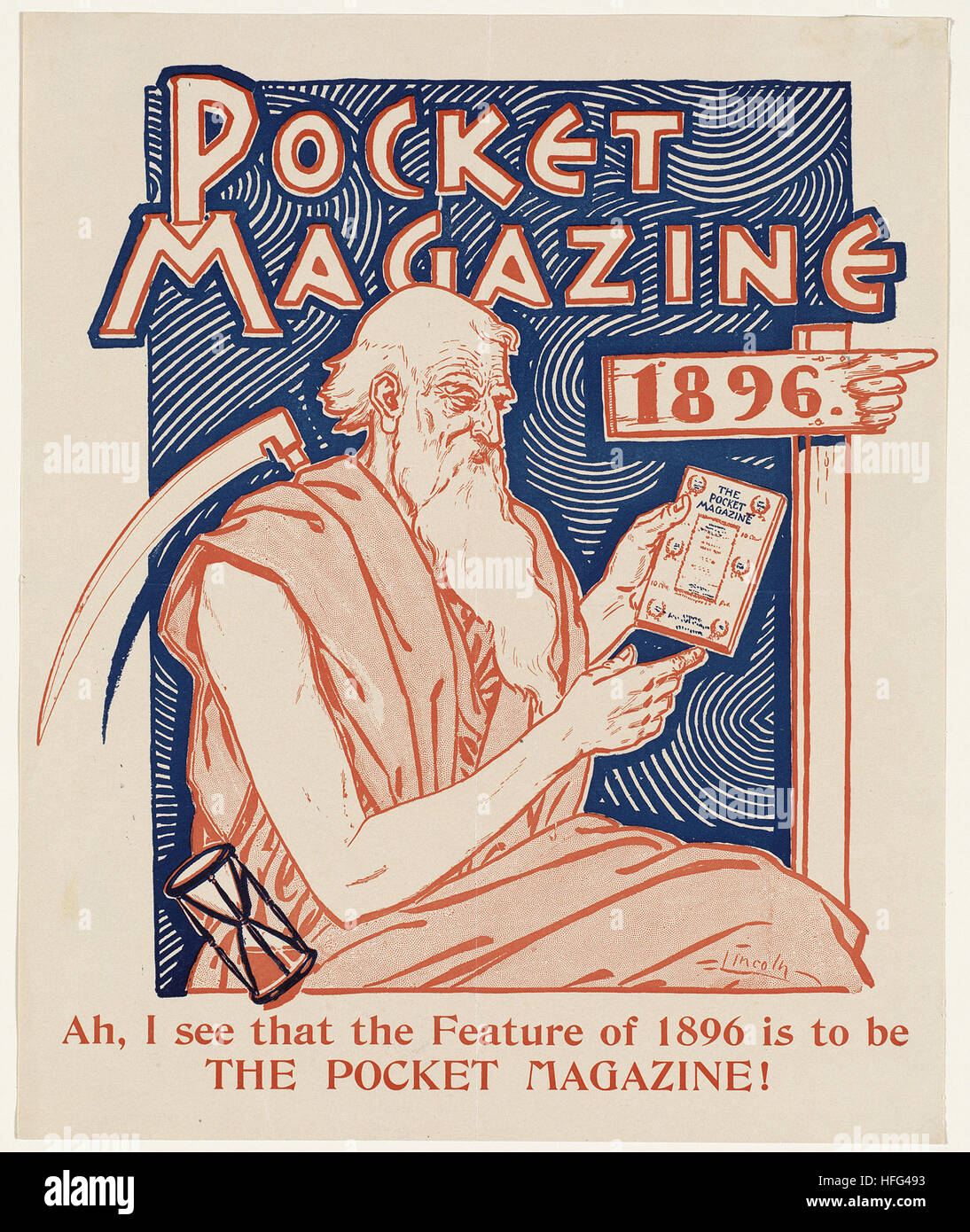 Pocket magazine 1896 - Stock Image
