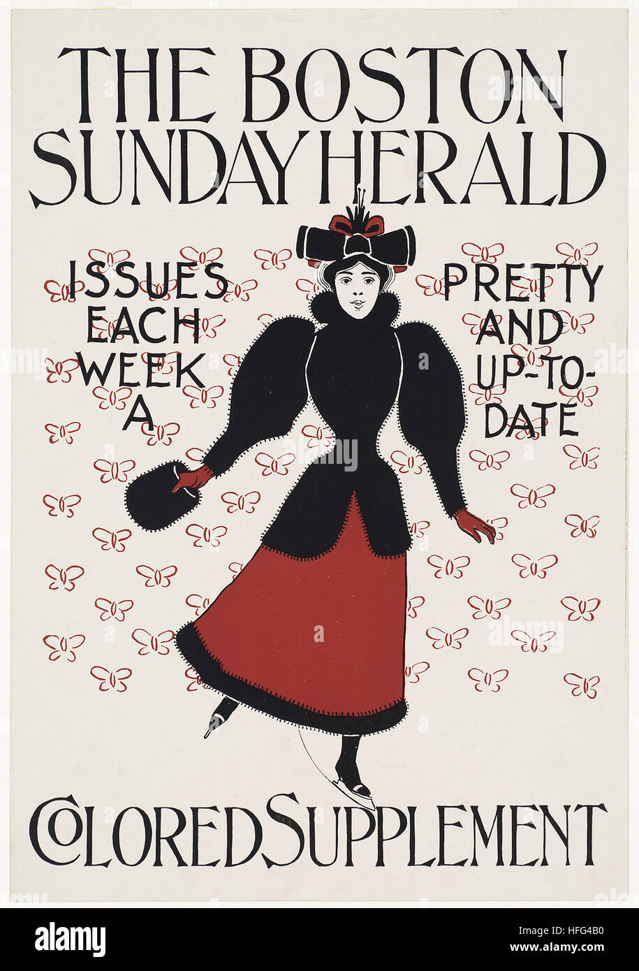 The Boston Sunday herald colored supplement - Stock Image