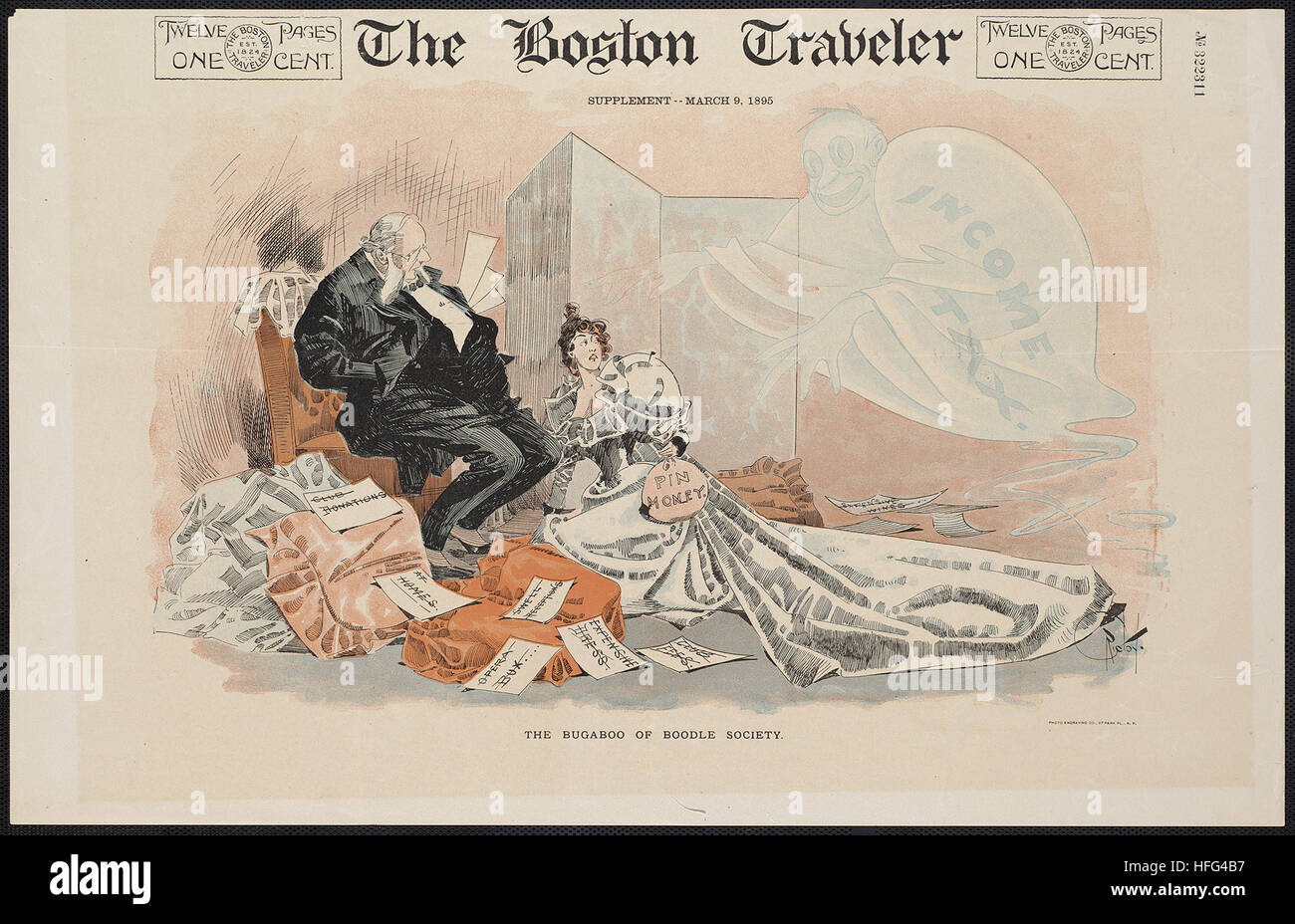 The Boston traveler, supplement -- March 9, 1895 - Stock Image