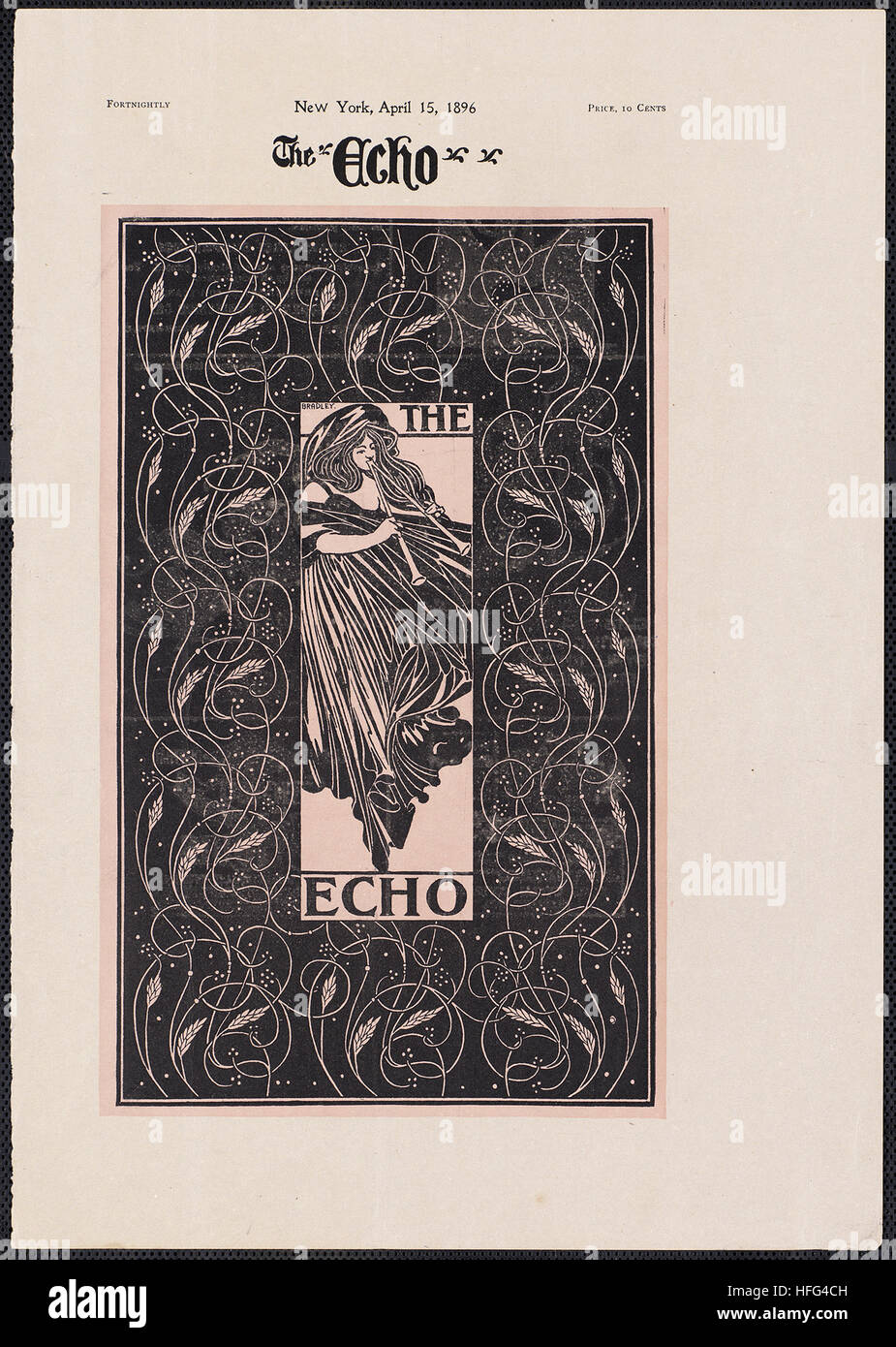 The echo, Chicago, April 15, 1896 - Stock Image