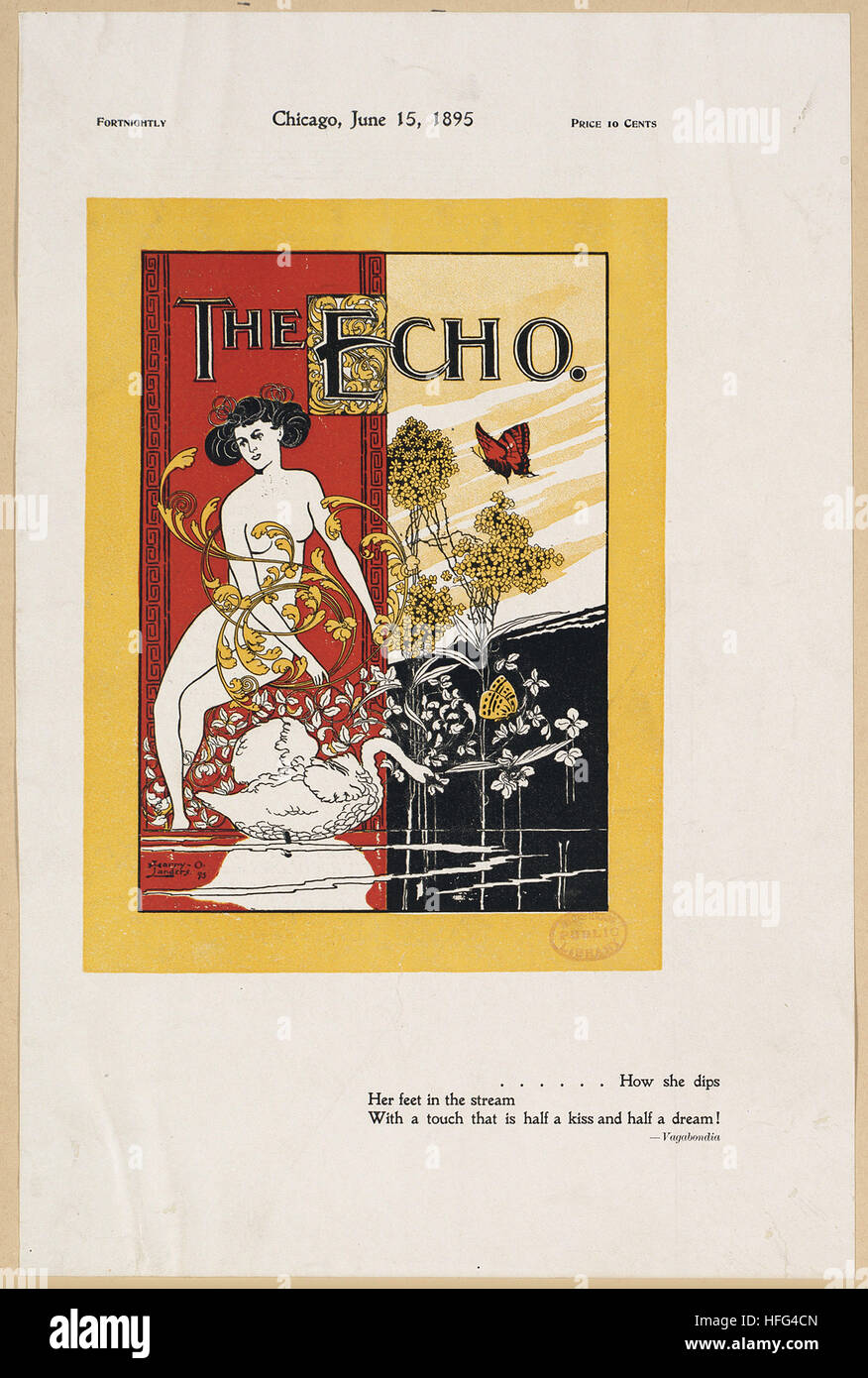 The echo, Chicago, June 15, 1895 - Stock Image