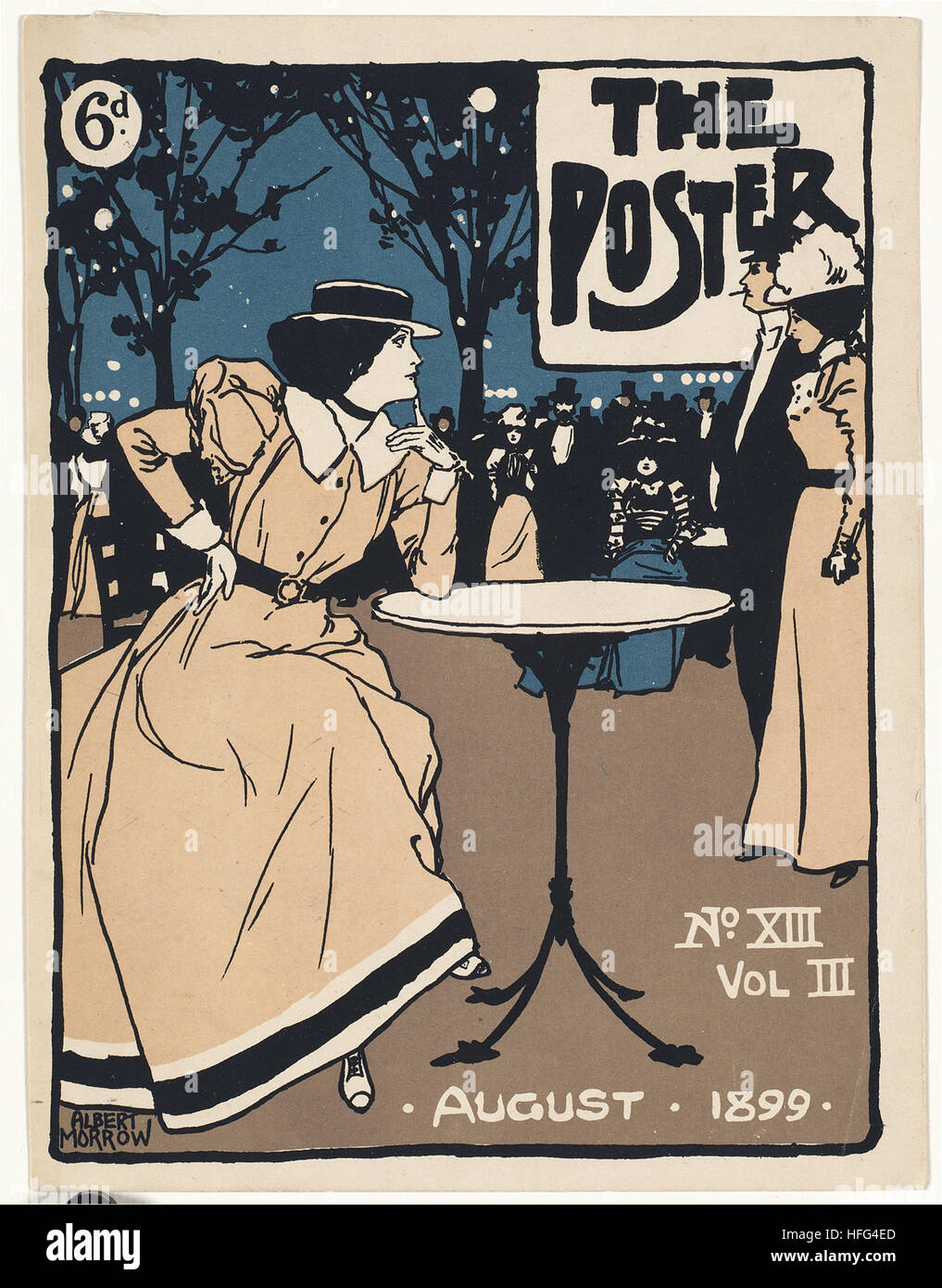 The poster, August 1899 - Stock Image