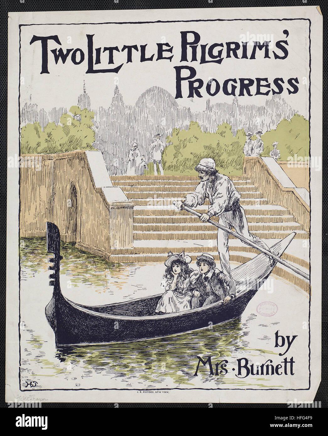 Two little pilgrims' progress by Mrs. Burnett - Stock Image