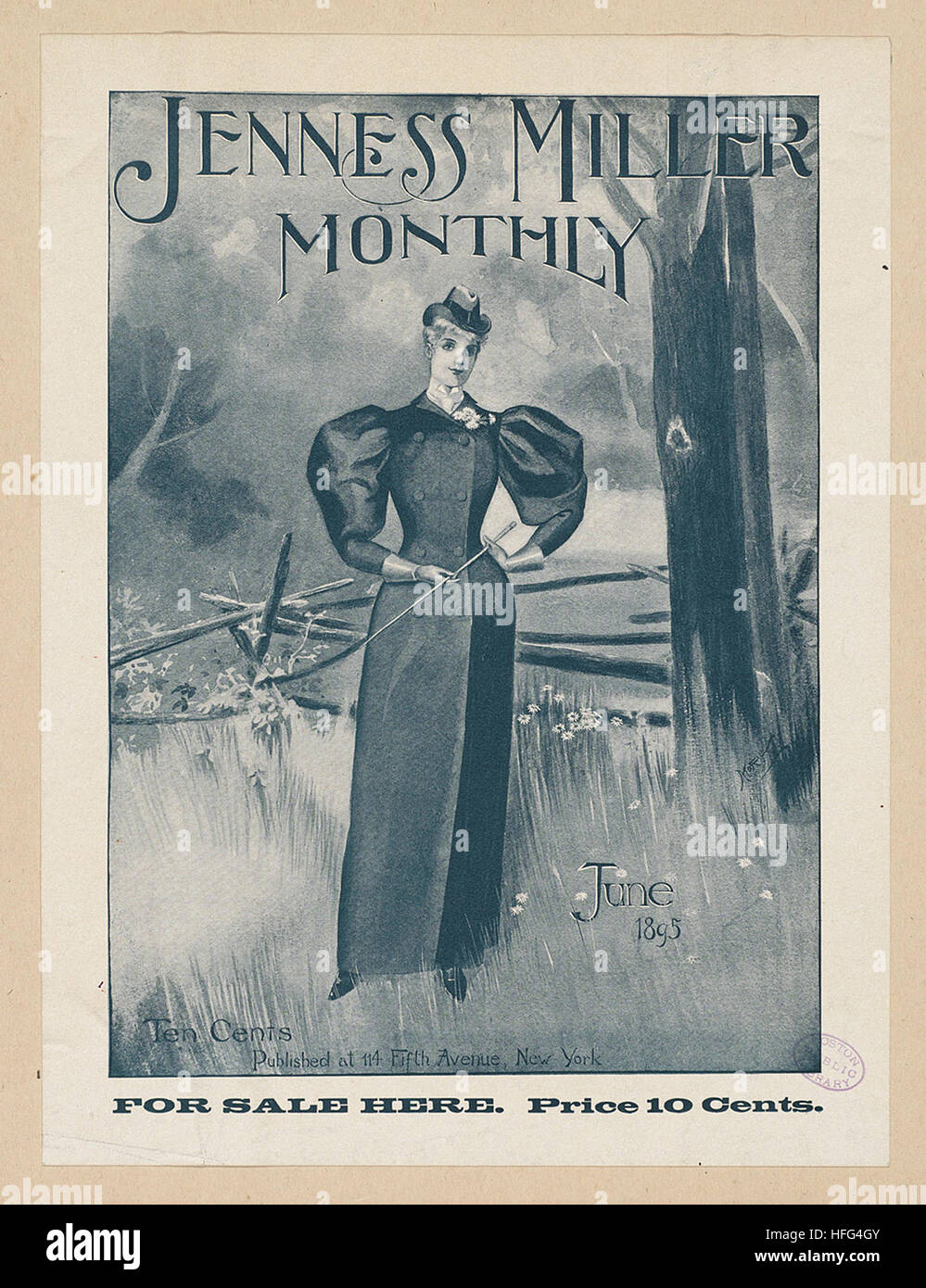 Jenness Miller monthly, June 1895 - Stock Image