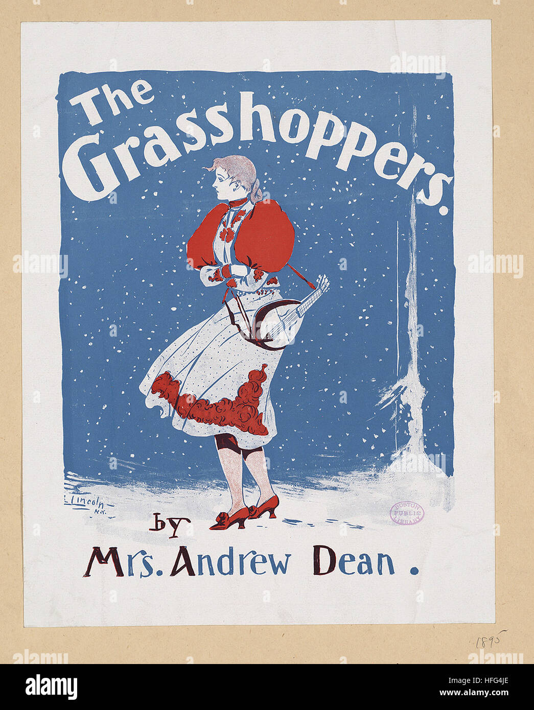 The grasshoppers by Mrs. Andrew Dean - Stock Image