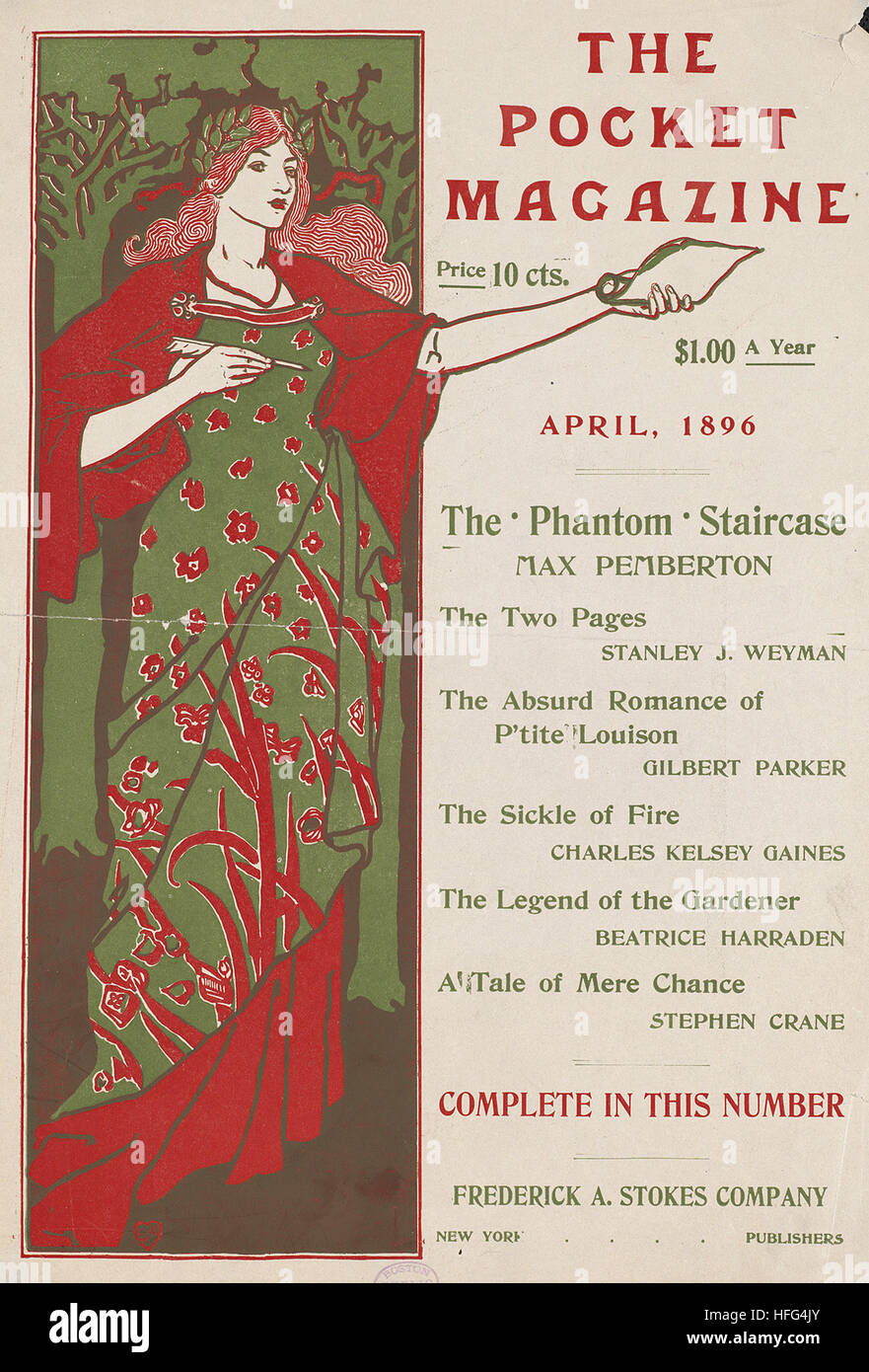 The pocket magazine, April, 1896 - Stock Image