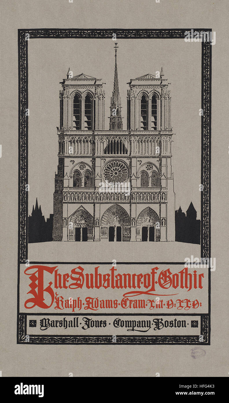 The substance of Gothic - Stock Image