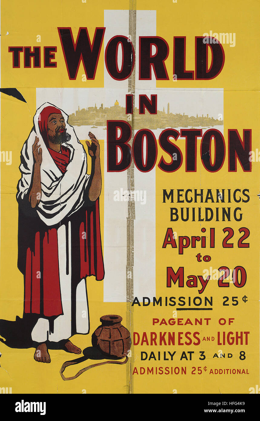 The world in Boston, Mechanics Building, April 22 to May 20 - Stock Image