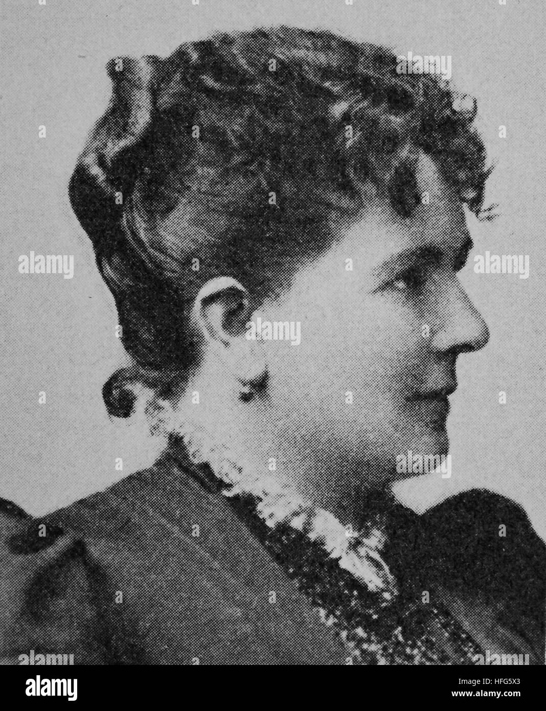 Therese Vogl, 1845 - 1921, was a German operatic soprano, the first Wellgunde in Wagner's Das Rheingold, and - Stock Image