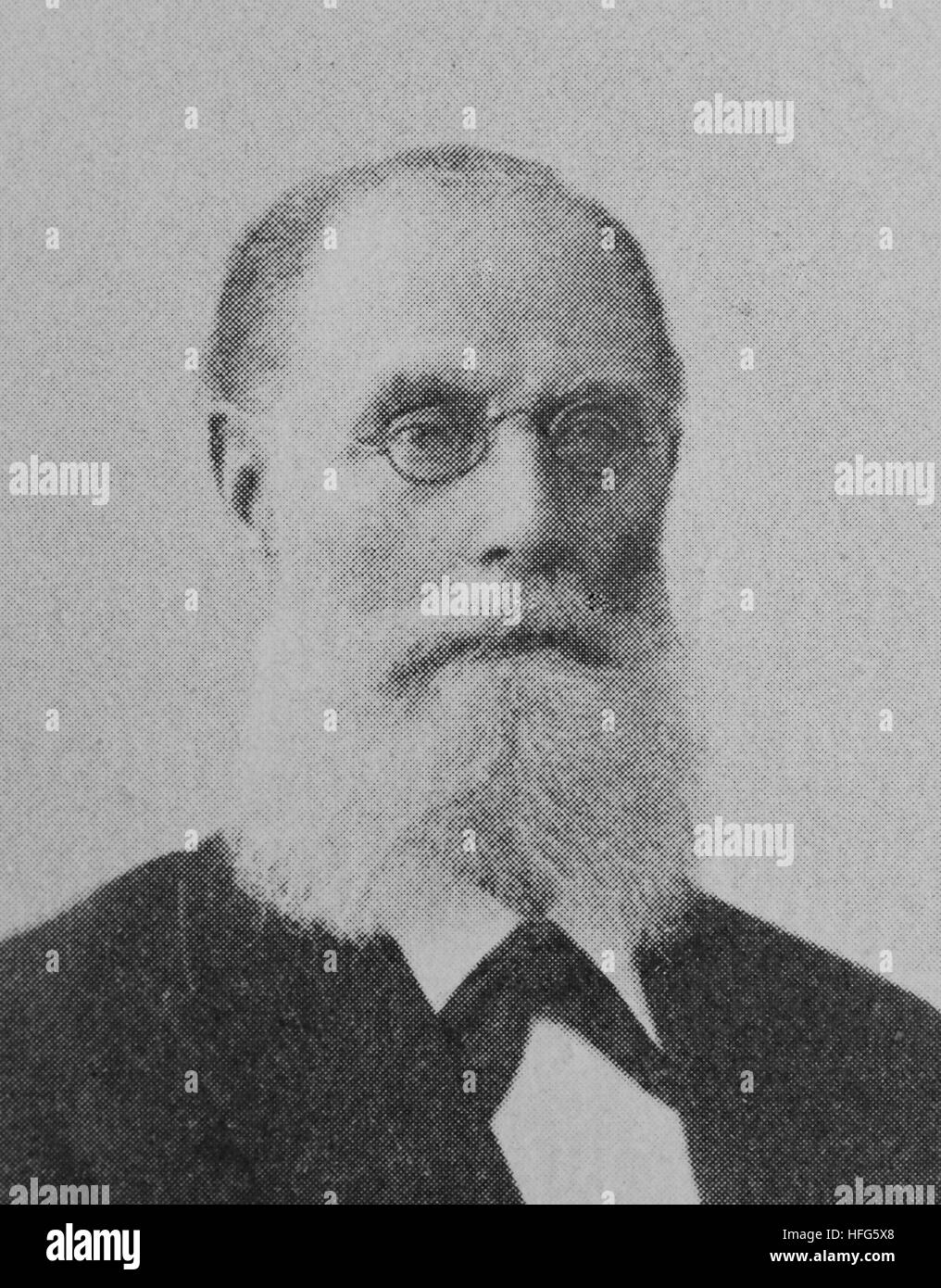 Franz Wuellner, 1832 - 1902,was a German composer and conductor, reproduction photo from the year 1895, digital - Stock Image