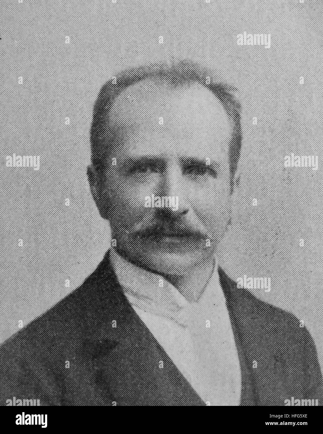 Max Friedlaender, 1852 - 1934, was a German bass singer, music editor, and musicologist, reproduction photo from - Stock Image