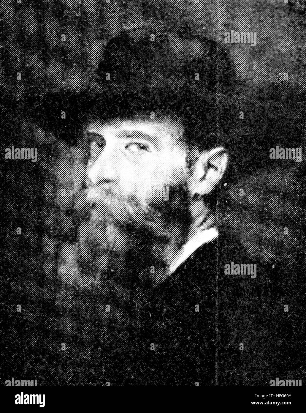 Ignaz Bruell, 1846 - 1907, was a Moravian-born pianist and composer who lived and worked in Vienna, reproduction - Stock Image