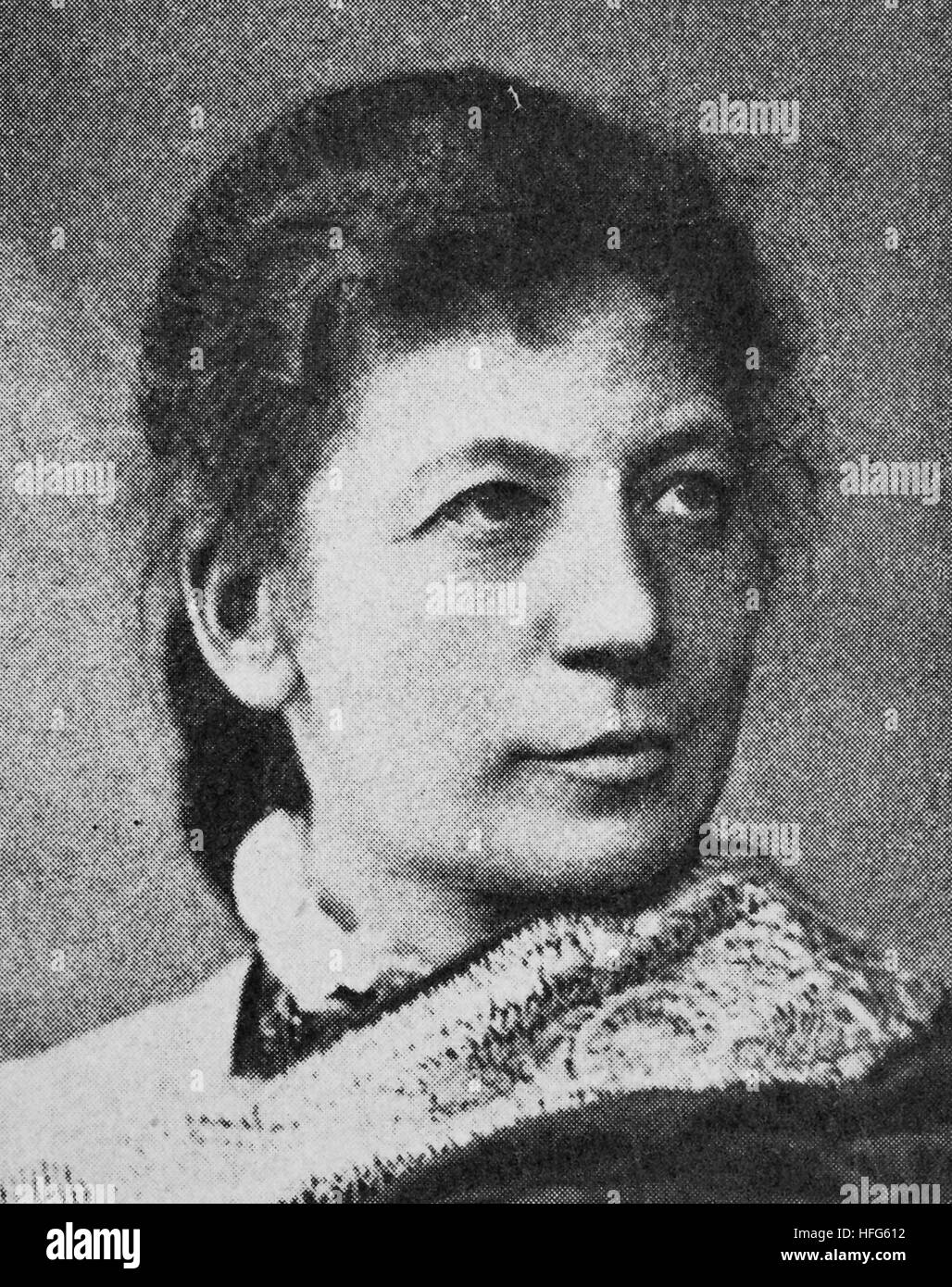 Marianne Brandt, 1842 - 1921, was an Austrian operatic singer with an international reputation, reproduction photo - Stock Image