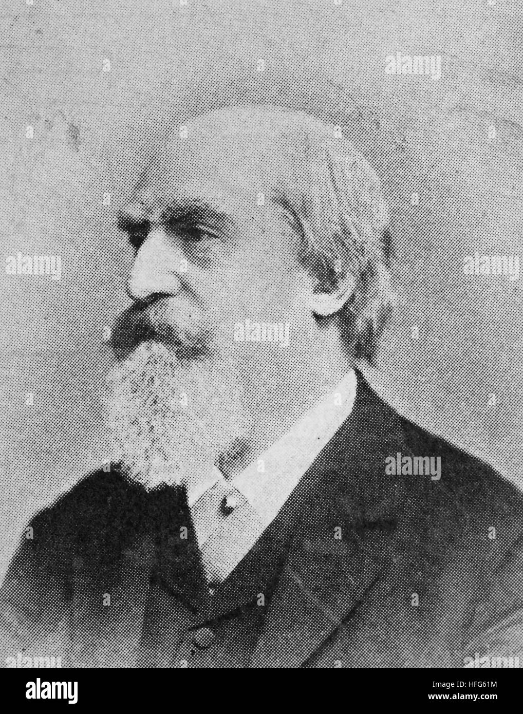 Eduard Hanslick, 1825 - 1904, was a German Bohemian music critic, reproduction photo from the year 1895, digital - Stock Image