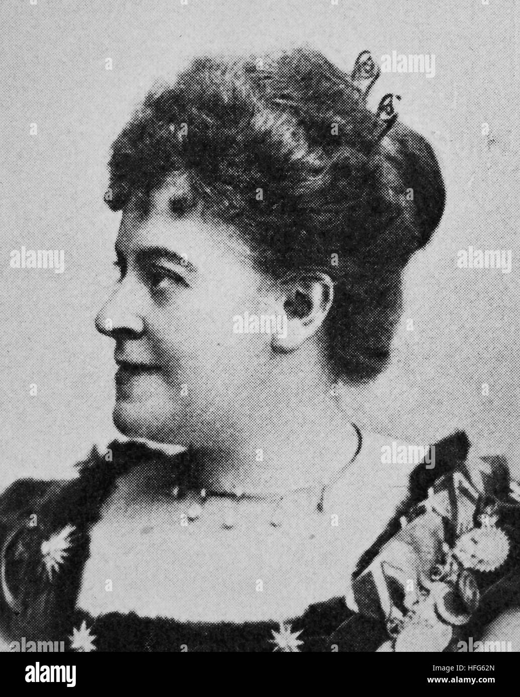 Therese Malten was the stage name of Therese Mueller, 1855 - 1930, a well-known German dramatic soprano, reproduction - Stock Image