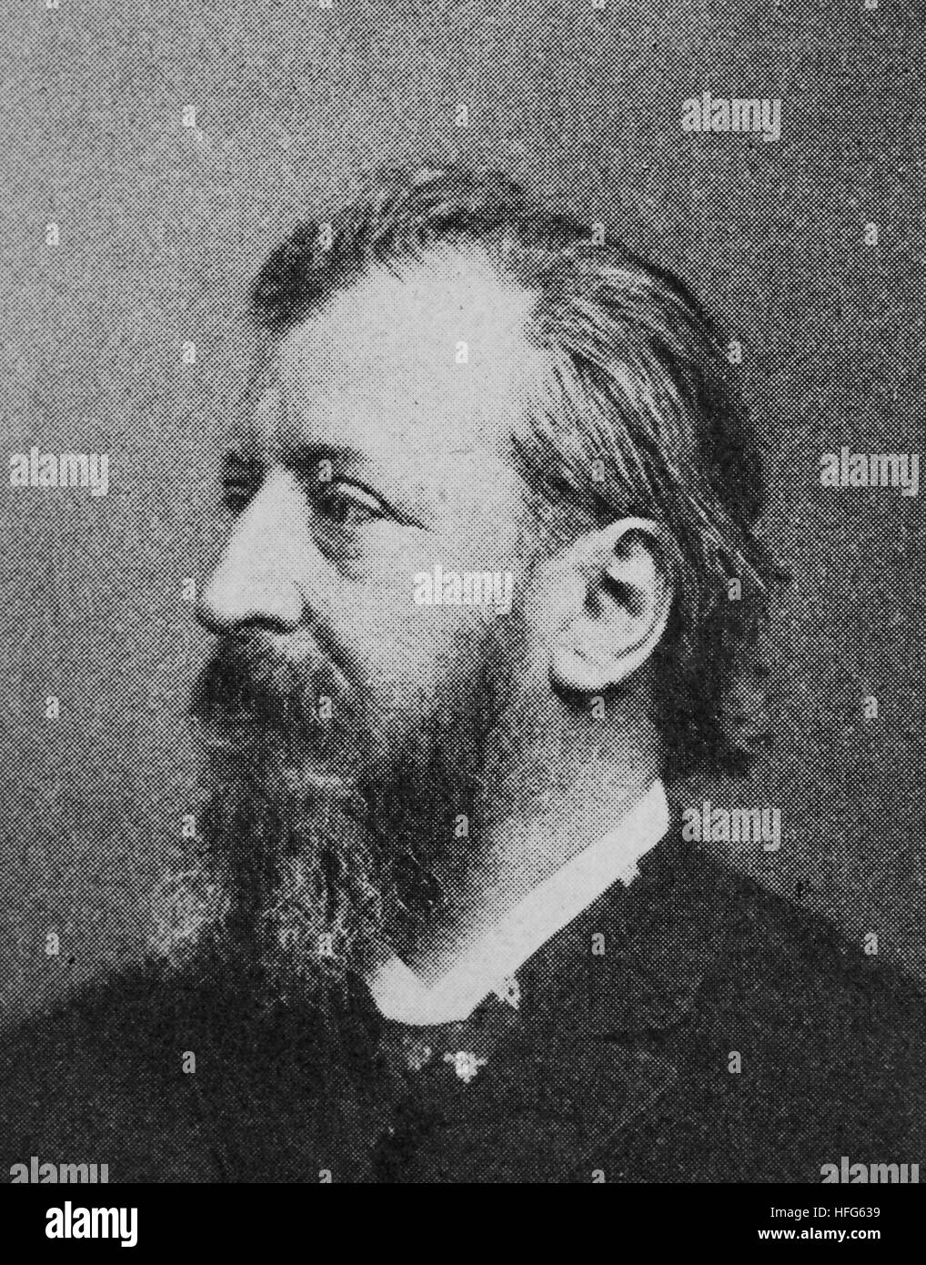 Johannes Trojan, 1837 -1915, Was a German writer, reproduction photo from the year 1895, digital improved - Stock Image