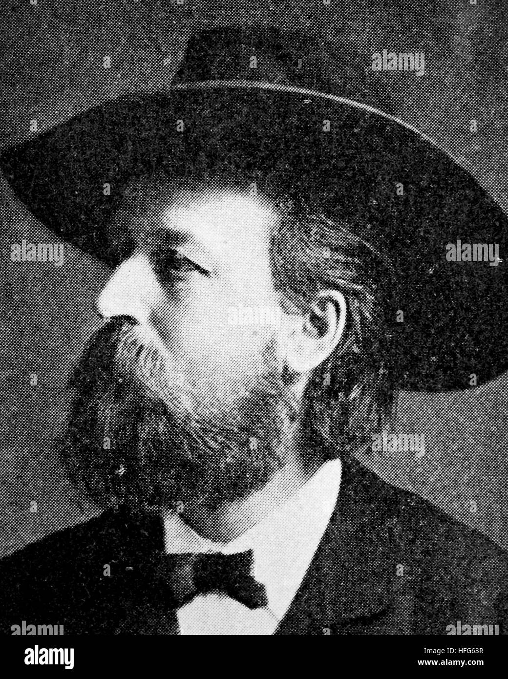 Ernst Scherenberg, 1839 - 1905, Was a German lyric poet, reproduction photo from the year 1895, digital improved - Stock Image
