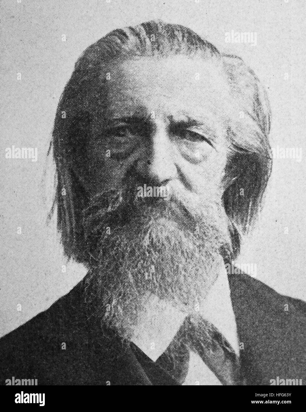 Julius Waldemar Grosse, 1828 - 1902, German poet, the son of a military chaplain, reproduction photo from the year - Stock Image