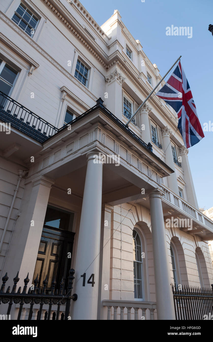 Canning House, Belgrave Square, London - Stock Image