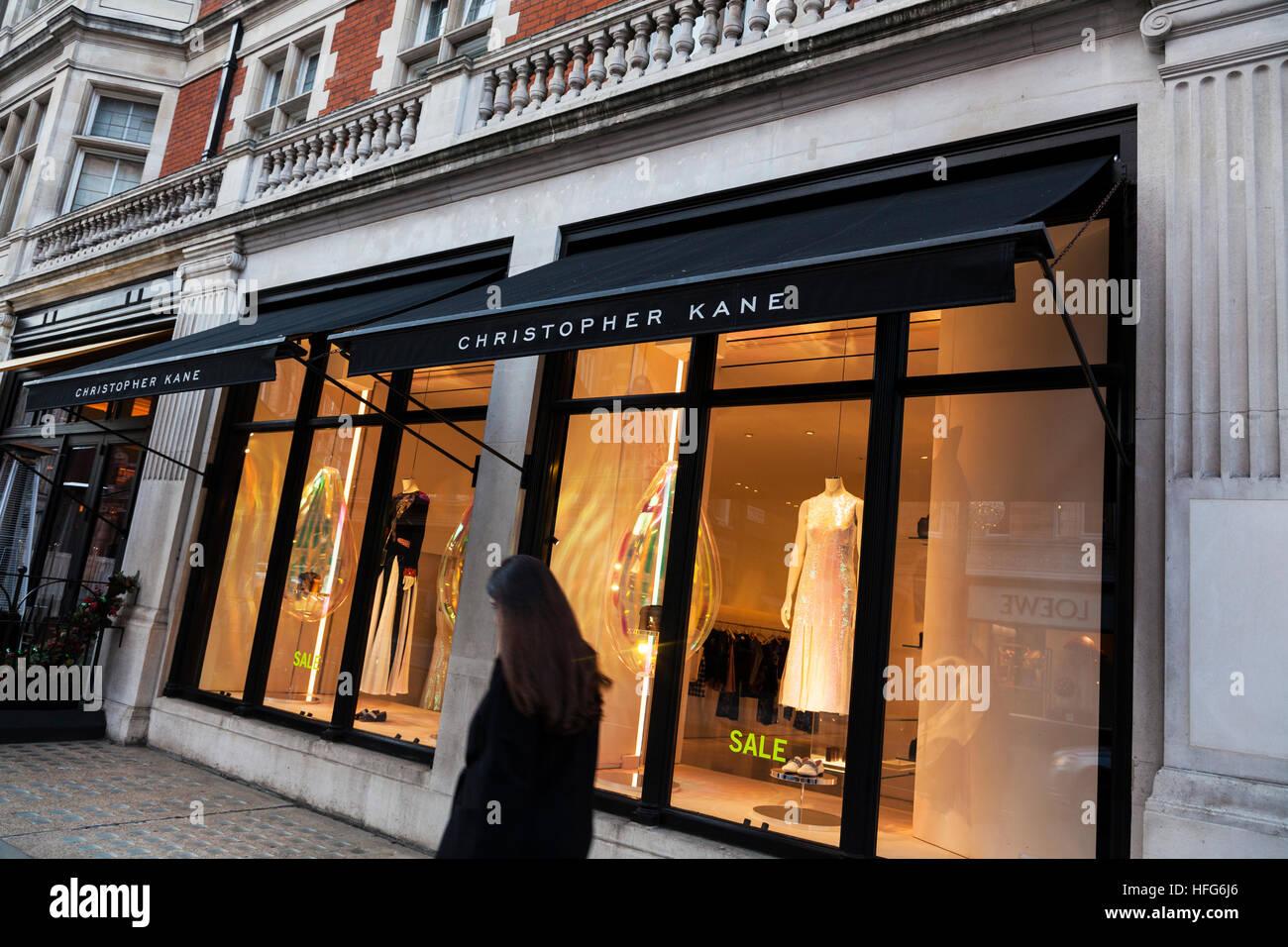 Christopher Kane designer clothes store on Mount Street in Mayfair, London - Stock Image