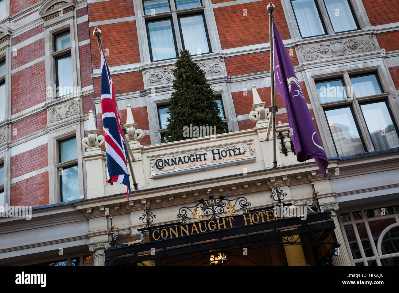 The Connaught Hotel Mayfair - Stock Image