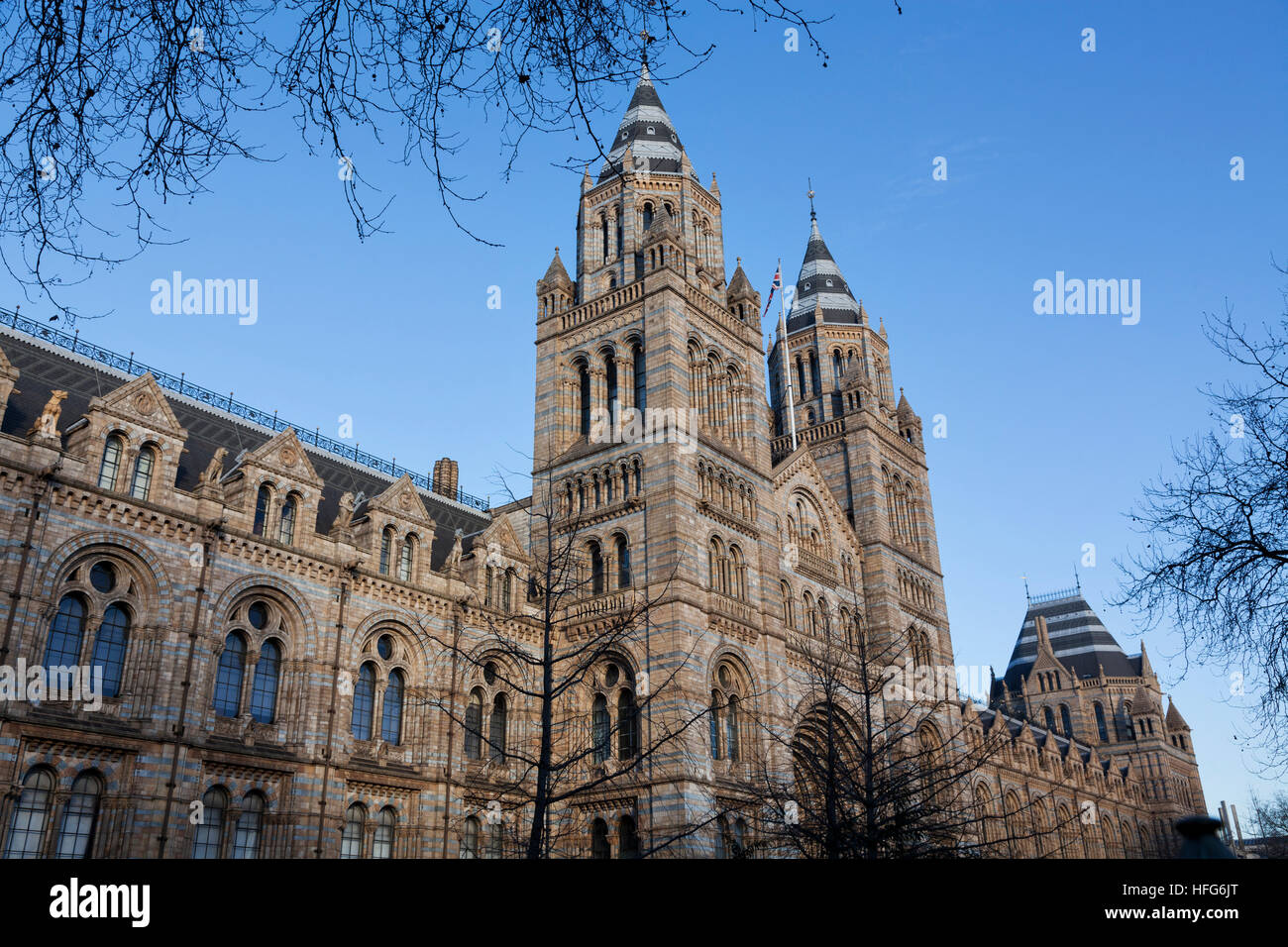 Natural History Museum on Cromwell Road, South Kensington, London - Stock Image