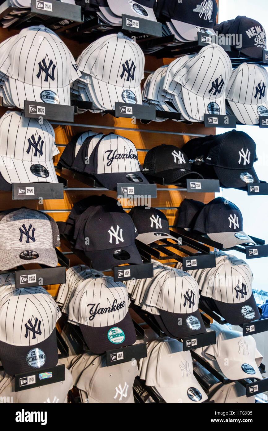 New York New York City NYC Bronx NY Yankees Yankee Stadium ballpark shopping team store gift shop sports team merchandise baseball caps logo emblem di