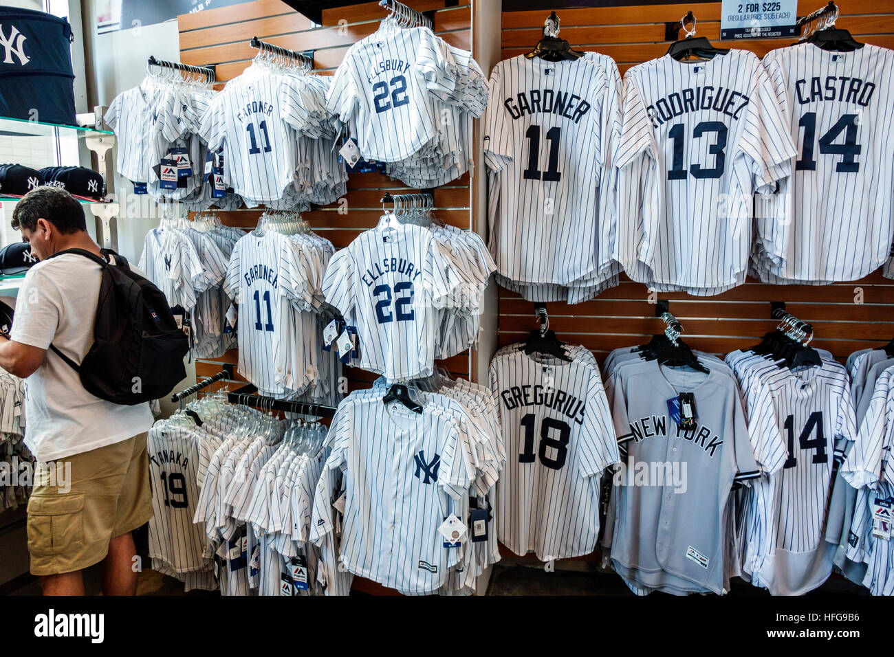 more photos 807fa 40e5b New York New York City NYC Bronx NY Yankees Yankee Stadium ballpark  shopping team store gift shop sports team merchandise baseball shirt  display sale