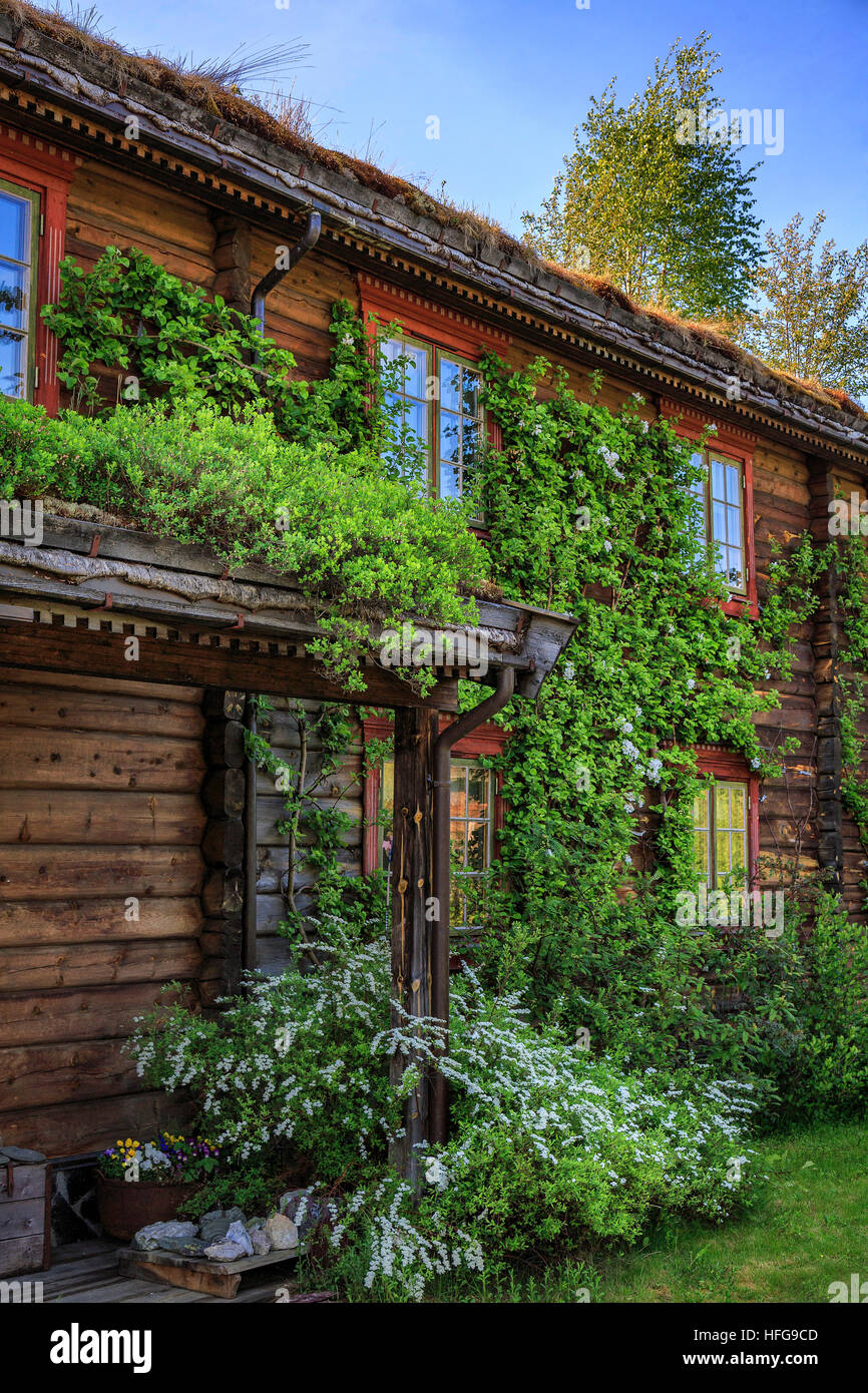 View of the main building of the Saga Trollheimen Hotel in Norway. - Stock Image