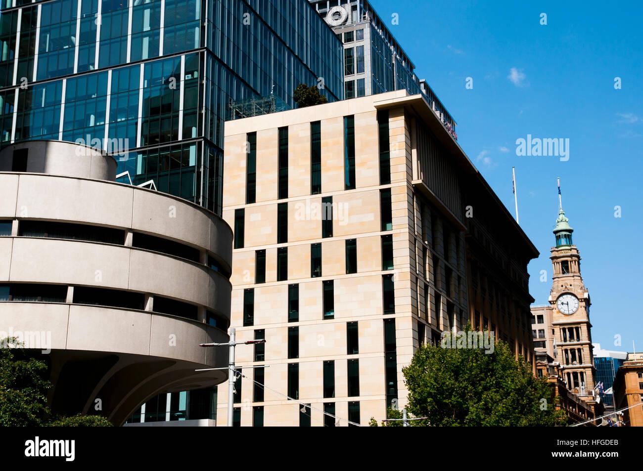 City Buildings on Martin Pl - Sydney - Australia - Stock Image