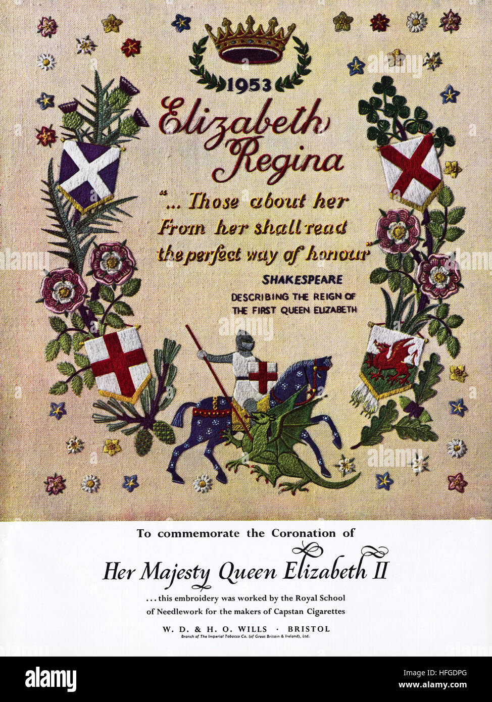 1950s advert advertising from original old vintage English