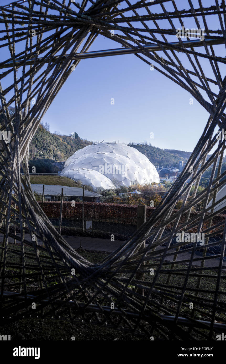 Eden project, Cornwall. - Stock Image