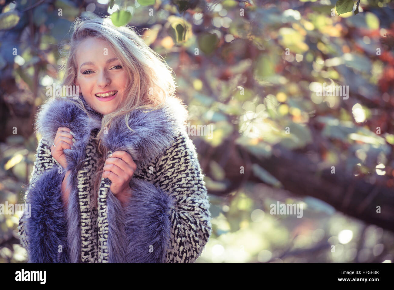 Photographic modeling as a career in the UK: A young slim attractive 20  year old caucasian woman girl with long blonde hair alone by herself in  woodlands on ...