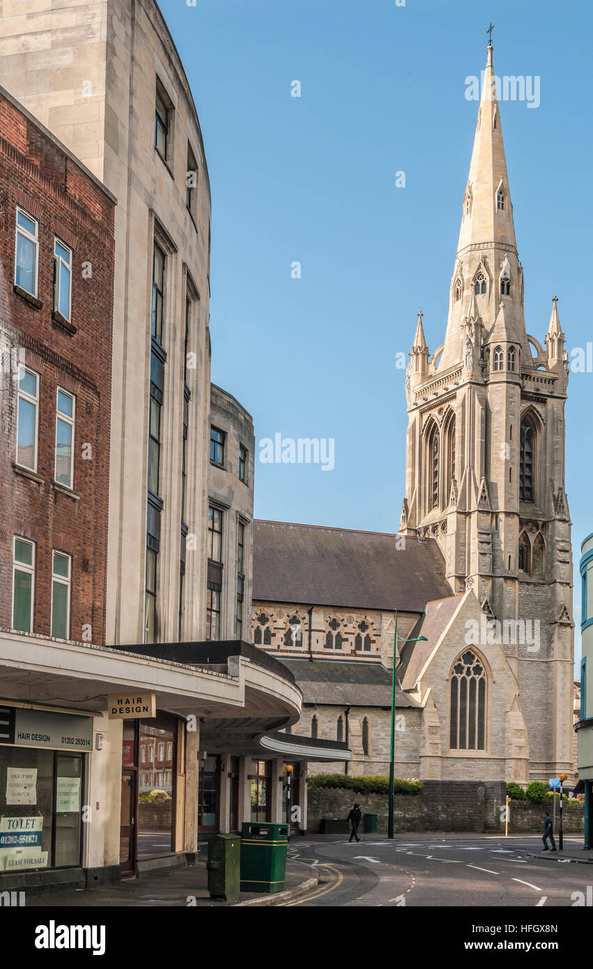 St.Andrews United Reformed Church at the popular holiday resort Bournemouth, Dorset, South England - Stock Image