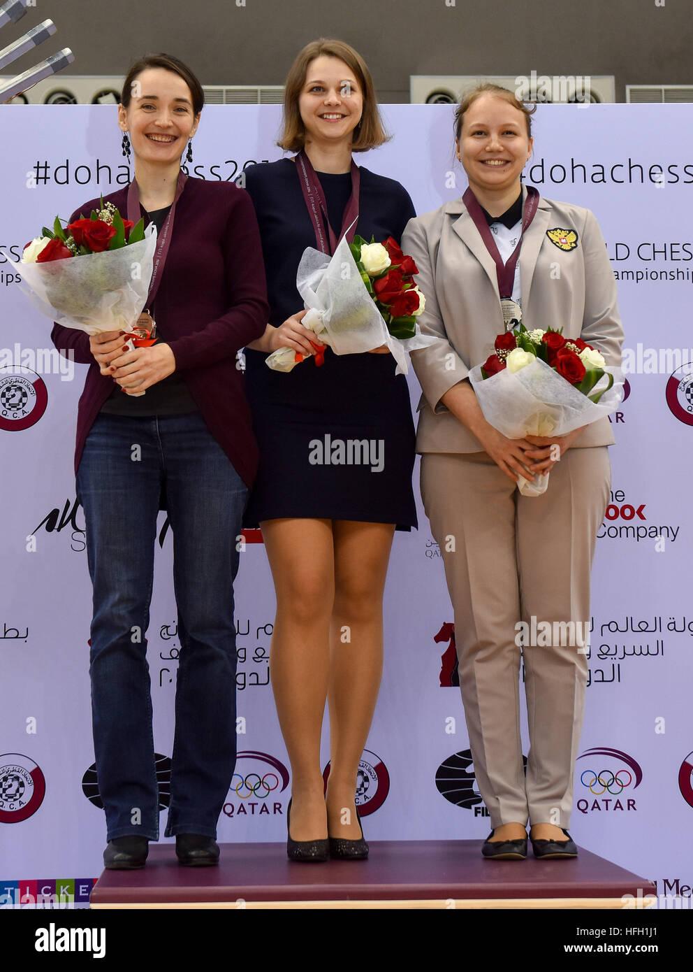 Doha, Qatar. 30th Dec, 2016. Bronze medalist Kateryna ...