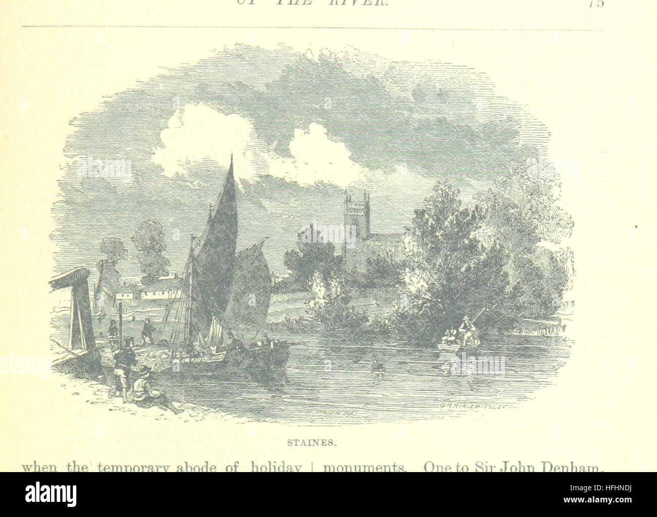 Image taken from page 105 of 'Up the River from Westminster to Windsor and Oxford; a descriptive panorama of - Stock Image